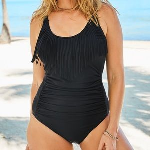 Swimsuits For All NWT Fringe One-Pc. Swimsuit, 28